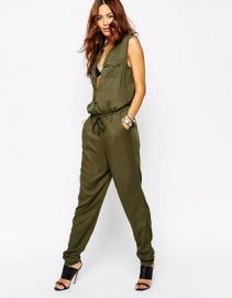 Vila Pocket Detail Utility Jumpsuit at asos com at Asos