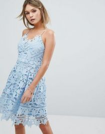 Vila Premium Cutwork Lace Skater Dress at asos com at Asos