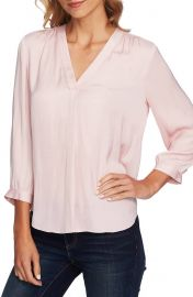 Vince Camuto Rumple Fabric Blouse at Nordstrom