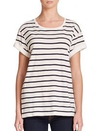 Vince - Feeder Striped Cotton Jersey Tee at Saks Fifth Avenue