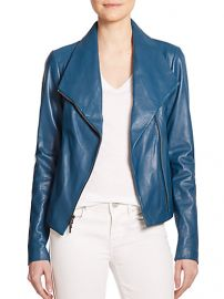 Vince - Leather Scuba Jacket at Saks Fifth Avenue