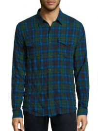 Vince - Plaid Cotton Twill Shirt at Saks Fifth Avenue