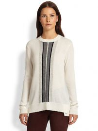 Vince - Regimental Striped Cashmere Sweater at Saks Fifth Avenue