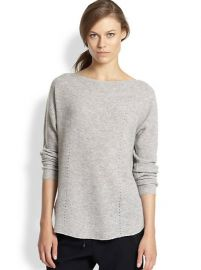 Vince - Ribbed Cashmere Relaxed Boatneck Sweater at Saks Fifth Avenue