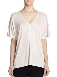Vince - Slub V-Neck Tee in Buff at Saks Fifth Avenue