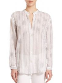 Vince - Split Striped Button Shirt at Saks Off 5th