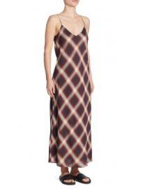 Vince - Striped Slip Dress at Saks Off 5th