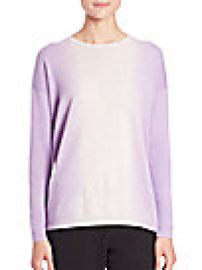 Vince - Vertical Dip-Dye Crewneck Sweater at Saks Off 5th