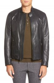 Vince  Essential  Leather Moto  Jacket at Nordstrom