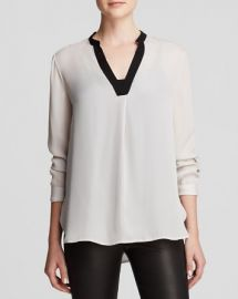 Vince Blouse - Color Block Silk at Bloomingdales