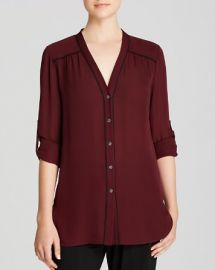 Vince Blouse - Contrast Piping at Bloomingdales