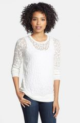 Vince Camuto Animal Burnout Crewneck Sweater at Nordstrom