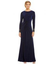 Vince Camuto Beaded Cuff Gown at Dillards