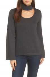 Vince Camuto Bell Sleeve Choker Neck Sweater  Regular   Petite at Nordstrom
