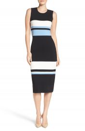 Vince Camuto Color Block Midi Dress  Regular   Petite at Nordstrom