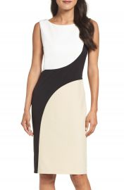Vince Camuto Colorblock Sheath Dress at Nordstrom