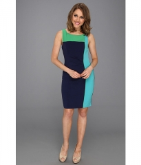 Vince Camuto Colorblock Sheath Dress NavyMulti at 6pm