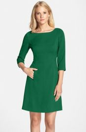 Vince Camuto Crepe A-Line Dress at Nordstrom