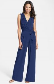 Vince Camuto Faux Wrap Jersey Jumpsuit at Nordstrom