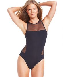 Vince Camuto Mesh Cutout One-Piece Swimsuit at Macys