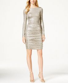 Vince Camuto Metallic-Knit Sheath Dress at Macys