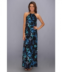 Vince Camuto Printed Halter Maxi Dress Sophia at 6pm