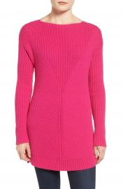 Vince Camuto Rib Knit Long Sweater  Regular   Petite at Nordstrom