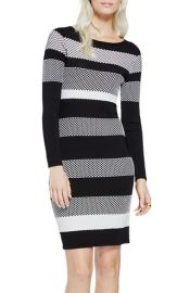 Vince Camuto Stripe Jacquard Sweater Dress at Nordstrom