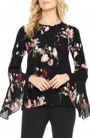 Vince Camuto Windswept Bouquet Bell Sleeve Blouse  Regular   Petite at Nordstrom
