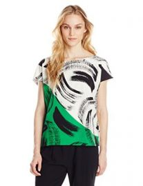 Vince Camuto Womenand39s Artful Strokes Blouse at Amazon