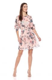 Vince Camuto Womens Floral Print Chiffon Dress at Amazon