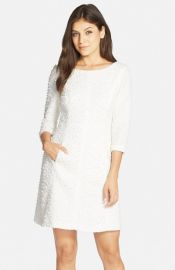 Vince CamutoBouclKnit A-Line Dress at Nordstrom