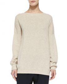 Vince Cashmere Rib-Trim Loose Sweater at Neiman Marcus