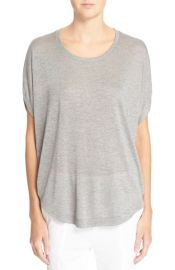 Vince Circle Cap Sleeve Tee in Grey at Nordstrom