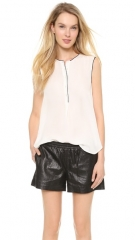 Vince Color Tipped Sleeveless Blouse at Shopbop