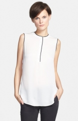 Vince Color Tipped Sleeveless Blouse at Nordstrom