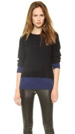 Vince Colorblock Cable Crew Pullover at Shopbop