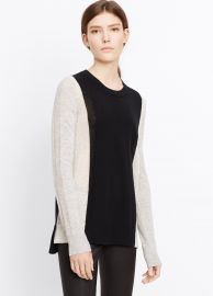 Vince Colorblock Cashmere Crew Neck Sweater at Vince