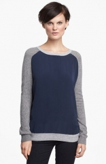 Vince Colorblock Raglan Sleeve Sweater at Nordstrom