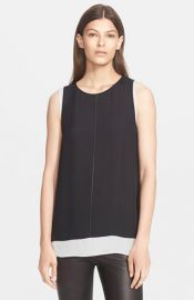 Vince Cross Stitch Double Layer Tank at Nordstrom