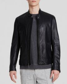 Vince Essential Moto Leather Jacket at Bloomingdales