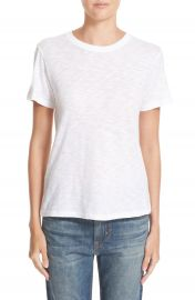 Vince Fitted Slub Cotton Tee in White at Nordstrom