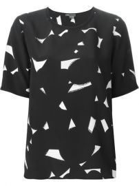 Vince Geometric Print Top - Torregrossa at Farfetch