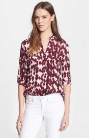 Vince Ikat Print Blouse at Nordstrom