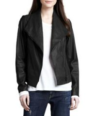 Vince Leather Scuba Jacket at Neiman Marcus