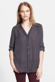 Vince Mini Geo Print Blouse at Nordstrom Rack