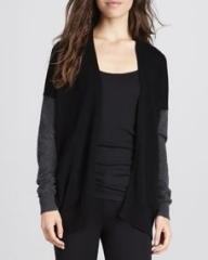 Vince Mix-Knit Colorblock Cardigan at Neiman Marcus