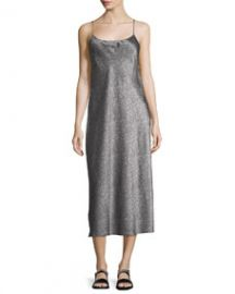 Vince Monochrome Silk Slip Dress at Last Call