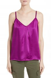 Vince Pleated Silk Camisole at Nordstrom