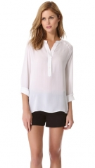 Vince Raglan Half Placket Top at Shopbop